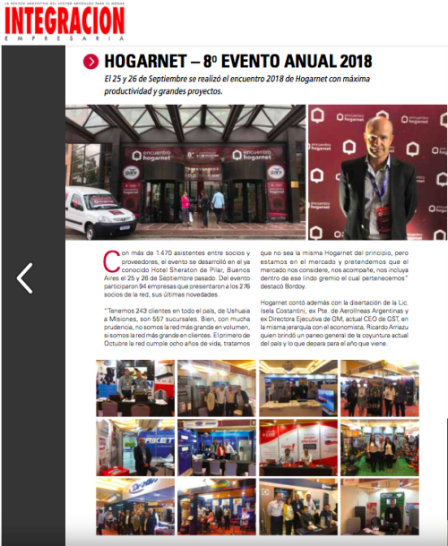 Revista Integración Nota Prensa Evento 2018